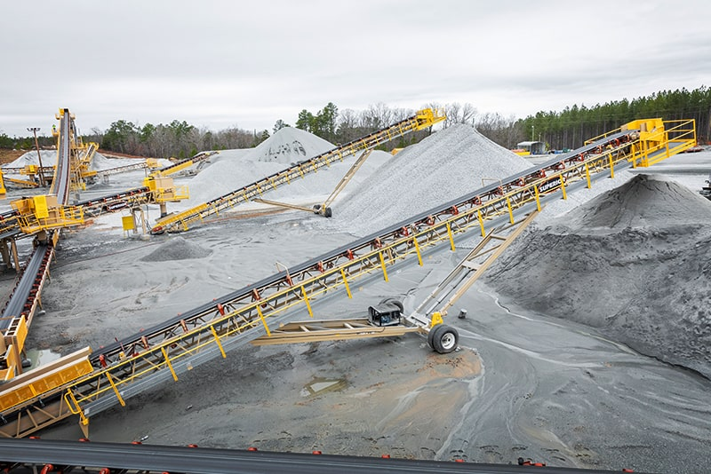 In-Plant Conveyors in Quarry