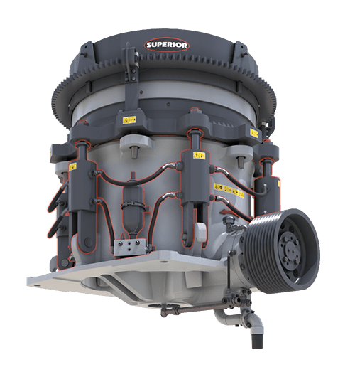 Tramp Relief System on Patriot Cone Crusher by Superior Industries