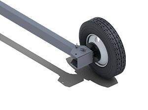 Fixed Width Portable Axle   Pinnacle Conveyor Axle Style
