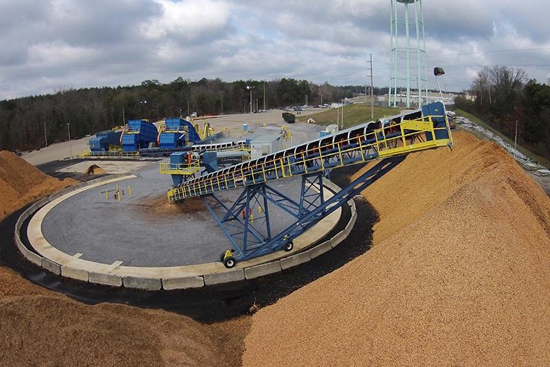 Radial Stacking Conveyor_Wood Pellets-Zilkha Biomass-Selma, AL _ Superior Industries