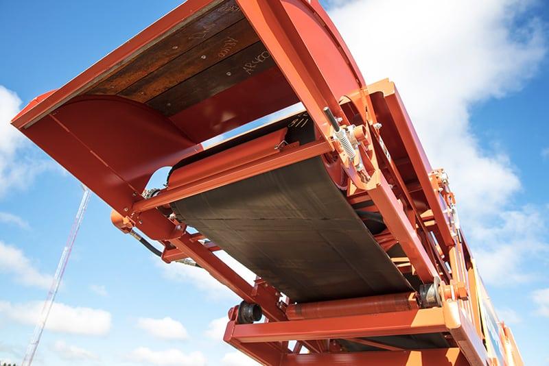 Underside of conveyor