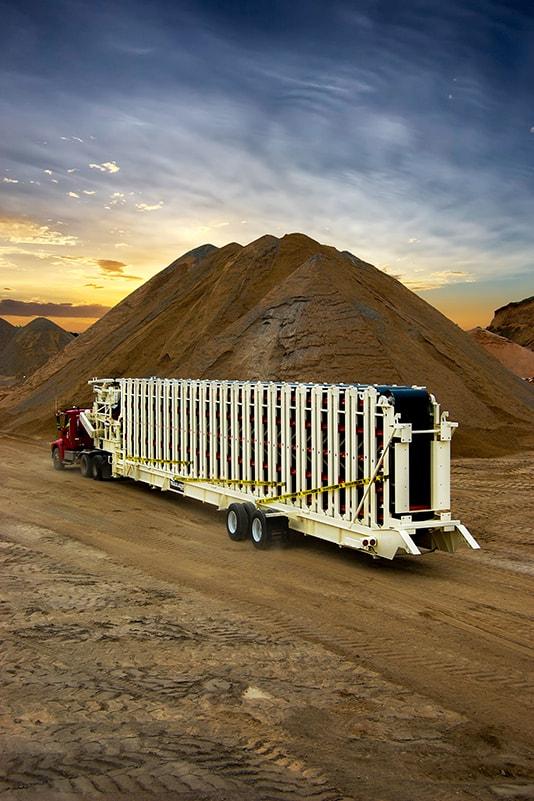 Trailblazer® Conveyor ready for transport   Superior Industries