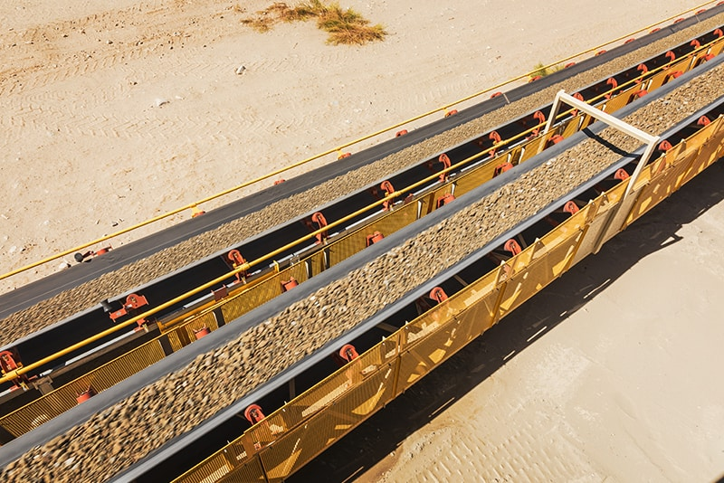 Material on Zipline Conveyor   Superior Industries