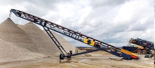 Radial Stacking Conveyors  | Stockpiling | Superior Industries