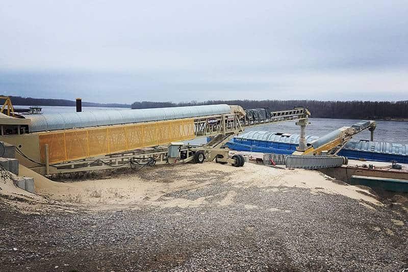 TeleStacker Conveyor Barge Loading | Frac Sand Production | Superior Industries