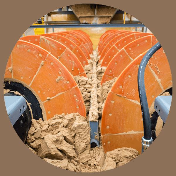 circle washing parts- Fine Material Washer