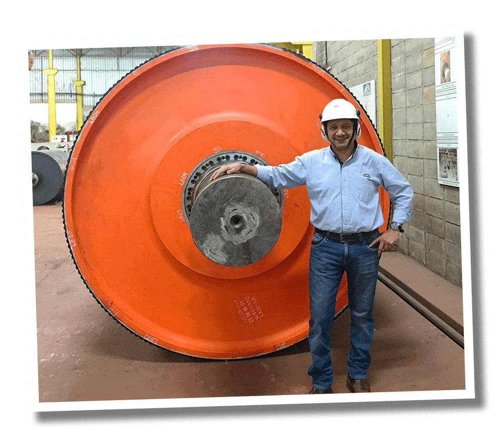 Very large Drum Pulley at Superior Manufacturing facility in Brazil