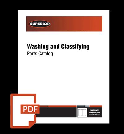 parts catalog Superior Washing Classifying as PDF download