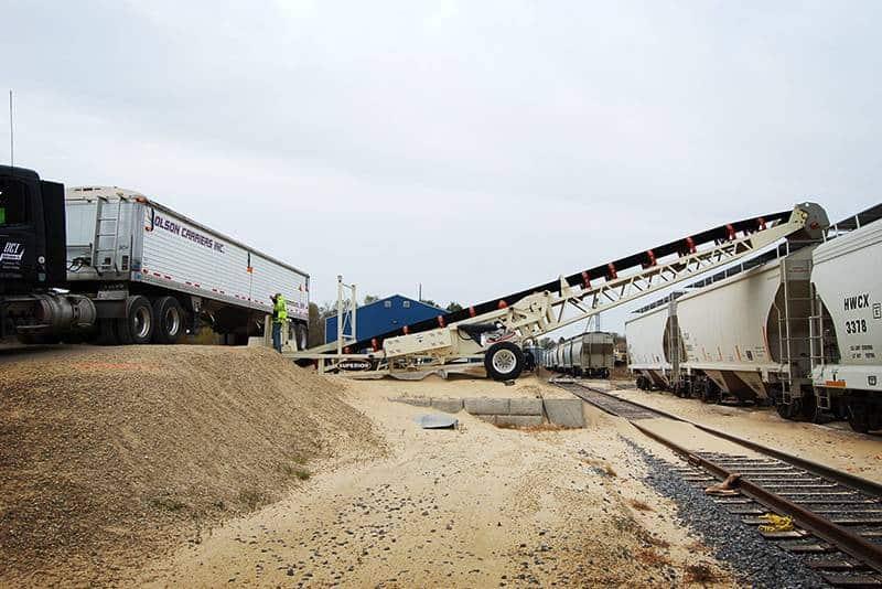 Frac Sand Rail Loading | Progressive Rail | Superior Industries