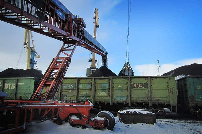 Rail Loading at Port of Murmansk, Russia | Superior Industries
